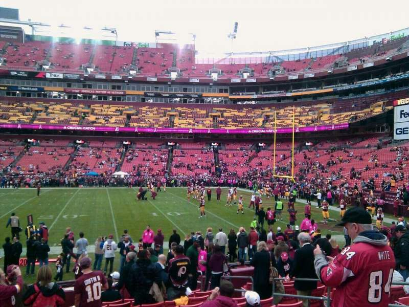 Seating view for FedEx Field Section 119 Row 11 Seat 10