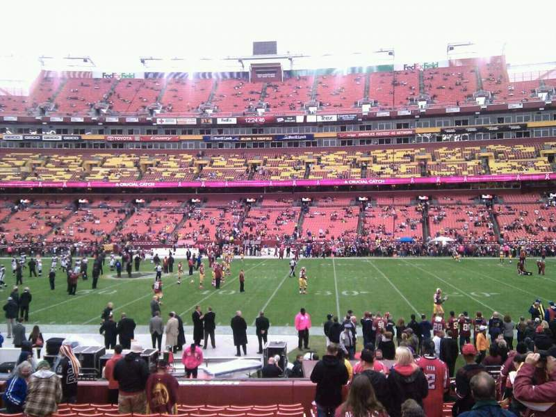 Seating view for FedEx Field Section 120 Row 15 Seat 10