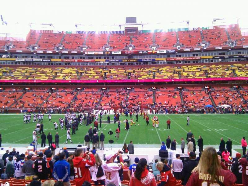 Seating view for FedEx Field Section 121 Row 15 Seat 10