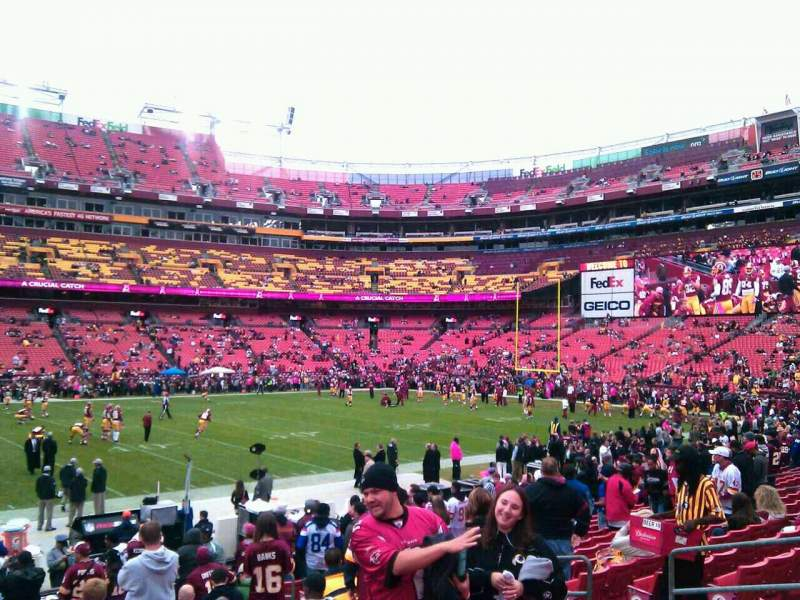 Seating view for FedEx Field Section 122 Row 15 Seat 11