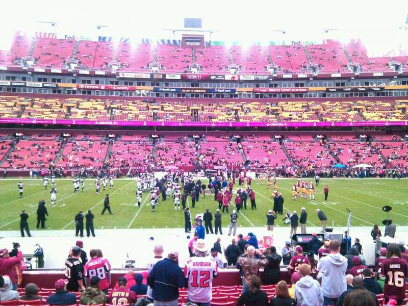 Seating view for FedEx Field Section 122 Row 15 Seat 10