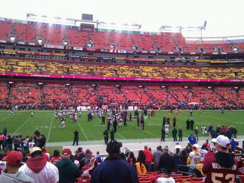 Seating view for FedEx Field Section 123 Row 15 Seat 10