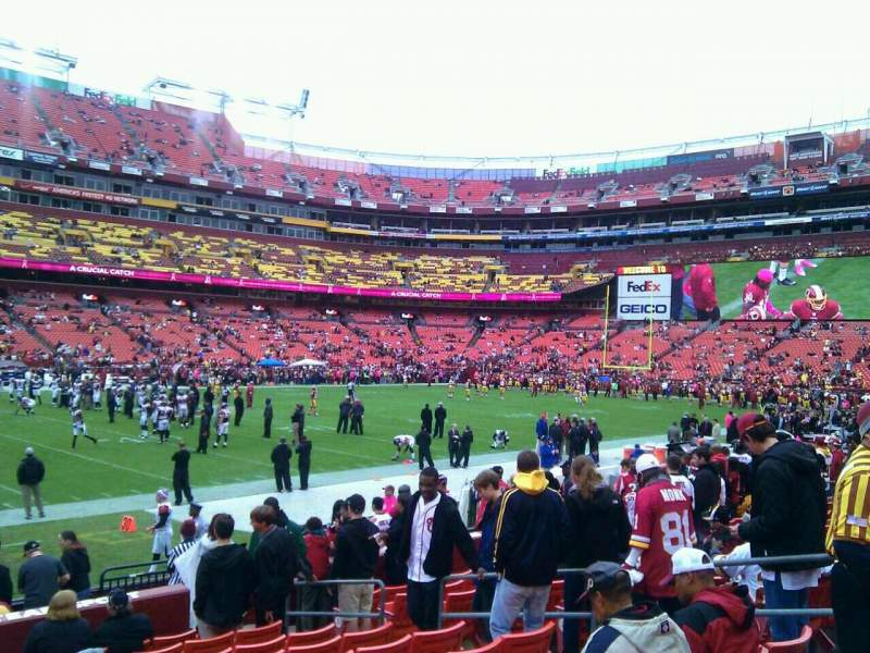 Seating view for FedEx Field Section 124 Row 11 Seat 10