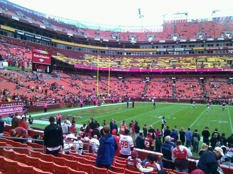 Fedex Field Section 124 Row 11 Seat