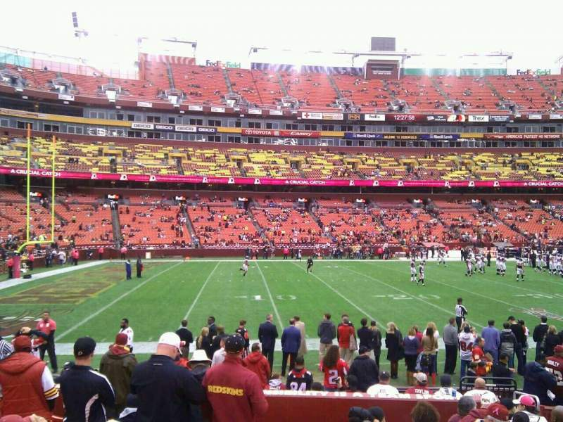 Seating view for FedEx Field Section 125 Row 11 Seat 10