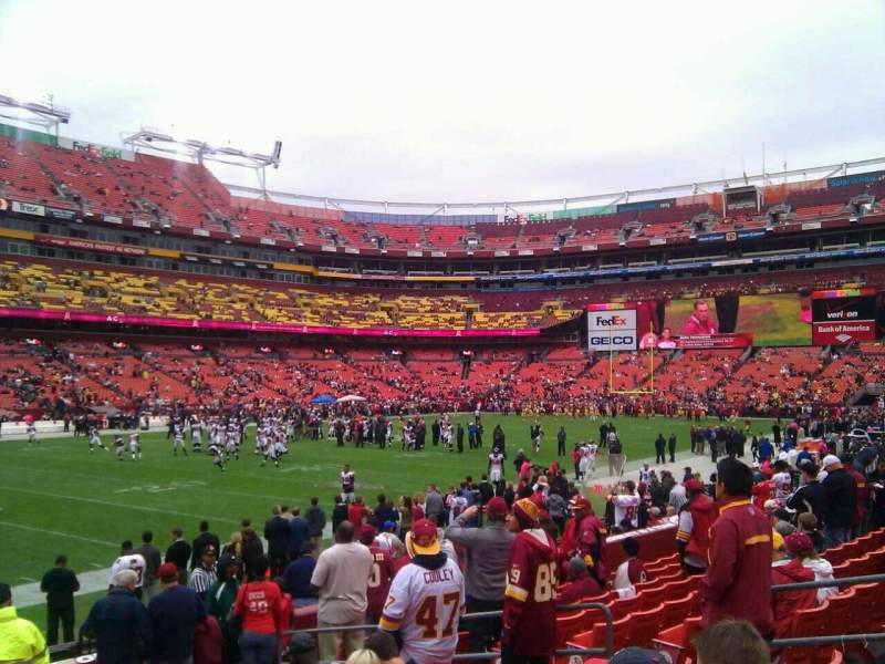 Seating view for FedEx Field Section 126 Row 11 Seat 10