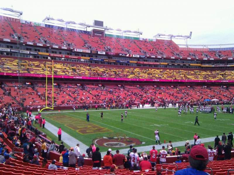 Seating view for FedEx Field Section 127 Row 19 Seat 10
