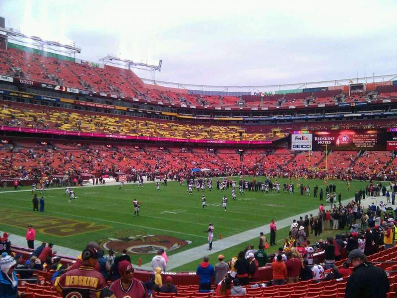 Seating view for FedEx Field Section 128 Row 19 Seat 10