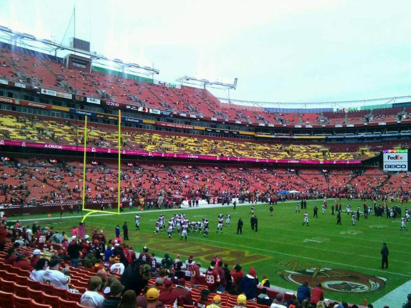 Seating view for FedEx Field Section 129 Row 19 Seat 10