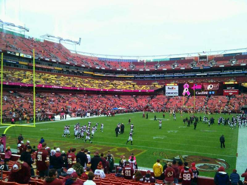 Seating view for FedEx Field Section 130 Row 19 Seat 10