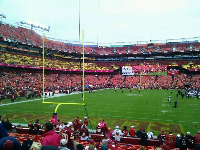 Seating view for FedEx Field Section 131 Row 19 Seat 10