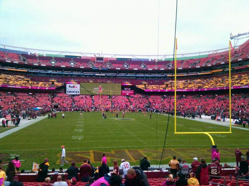 Seating view for FedEx Field Section 133 Row 19 Seat 10