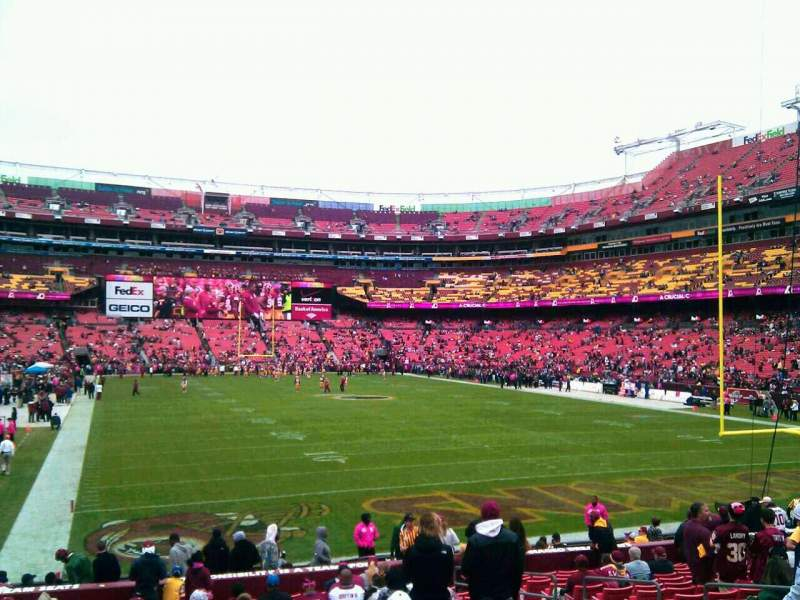 Seating view for FedEx Field Section 134 Row 19 Seat 10