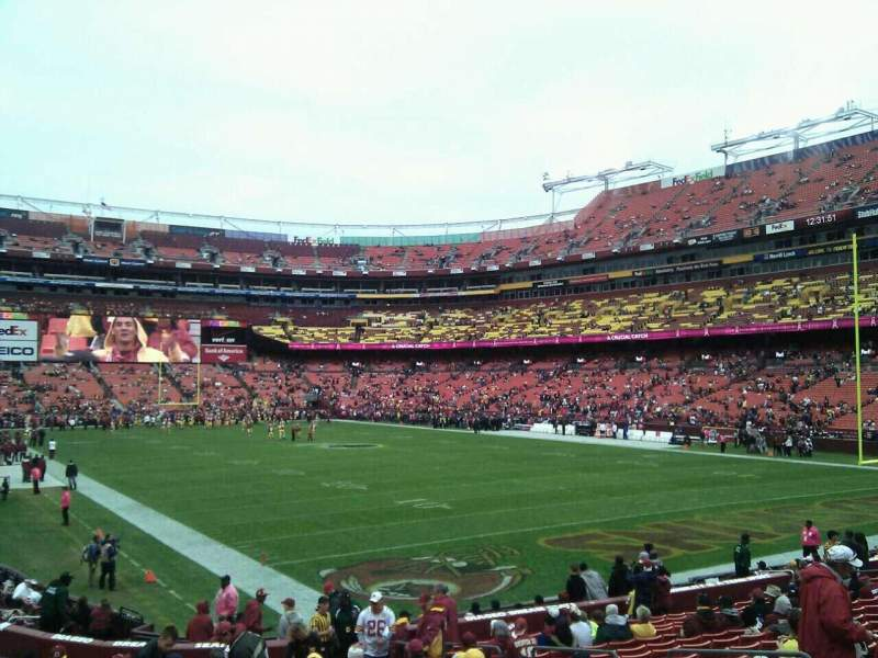 Seating view for FedEx Field Section 135 Row 19 Seat 10