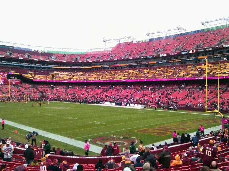 Seating view for FedEx Field Section 136 Row 19 Seat 10