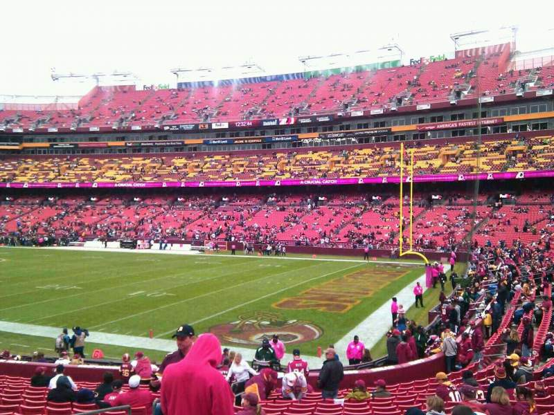 Seating view for FedEx Field Section 137 Row 19 Seat 10