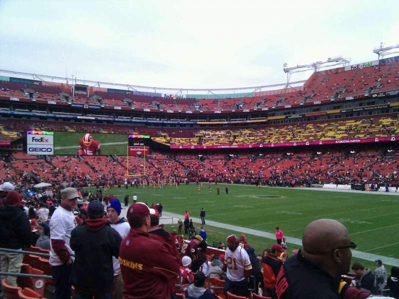 Seating view for FedEx Field Section 138 Row 19 Seat 10