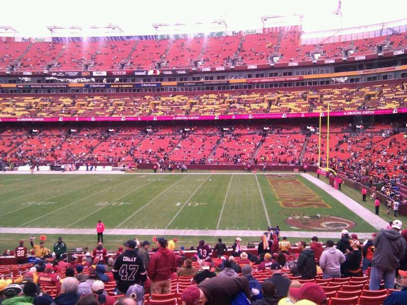 Seating view for FedEx Field Section 139 Row 26 Seat 10