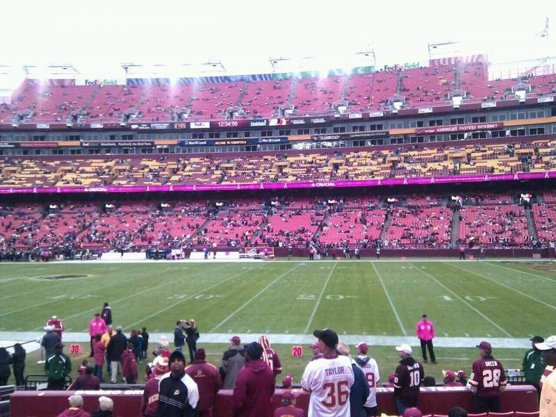 Seating view for FedEx Field Section 140 Row 13 Seat 10