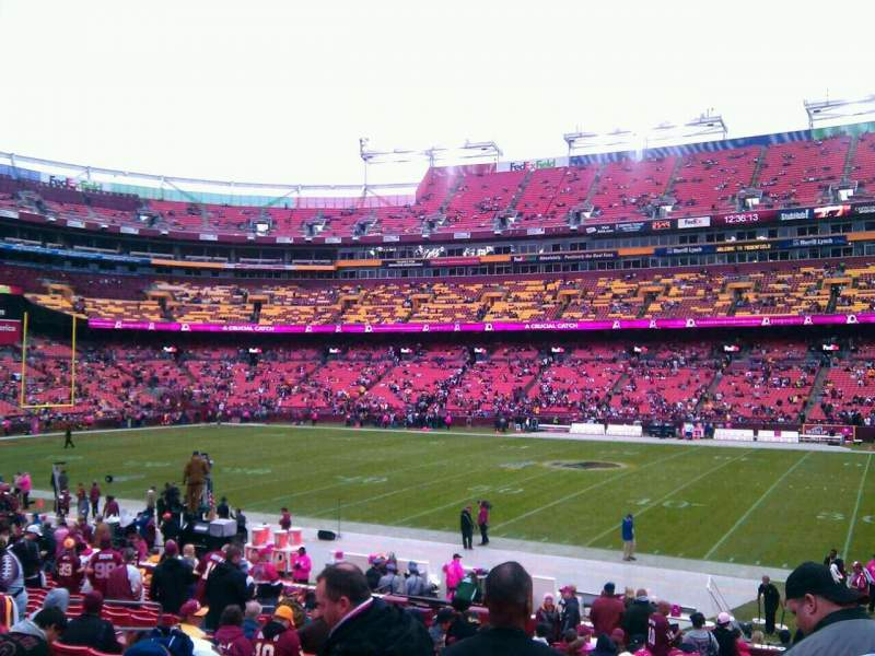 Seating view for FedEx Field Section 141 Row 14 Seat 10