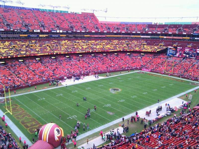 Seating view for FedEx Field Section 406 Row 1 Seat 12