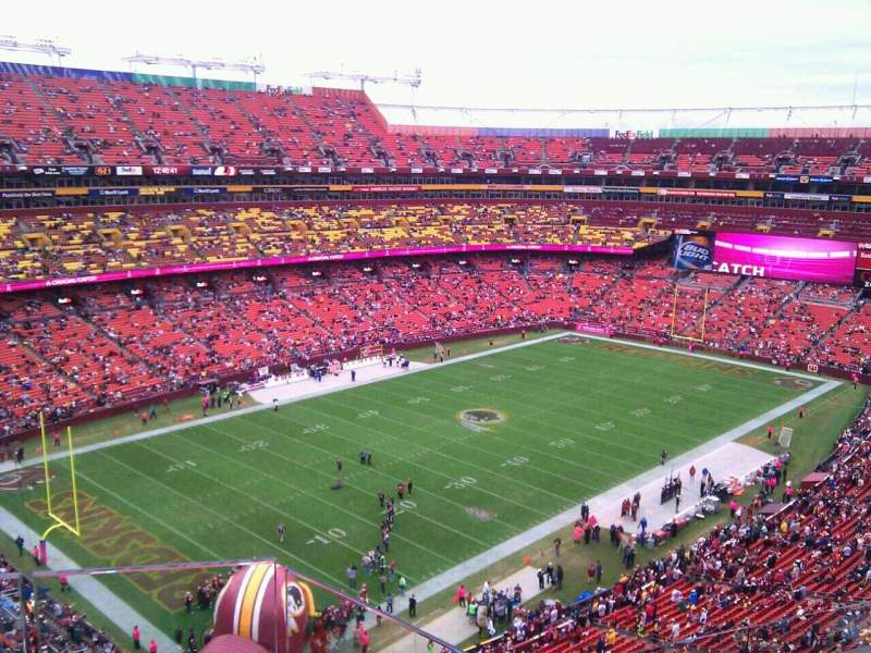 Seating view for FedEx Field Section 407 Row 5 Seat 5