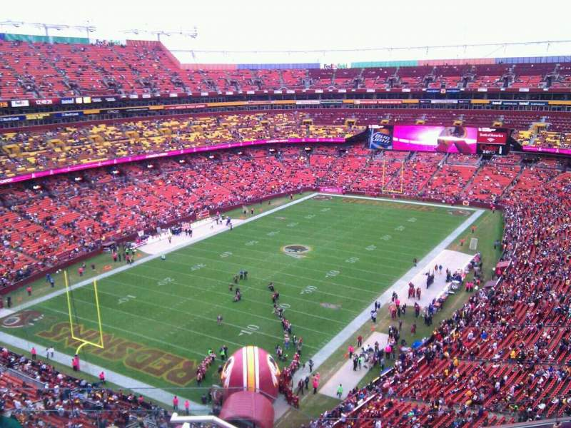 Seating view for FedEx Field Section 410 Row 7 Seat 12