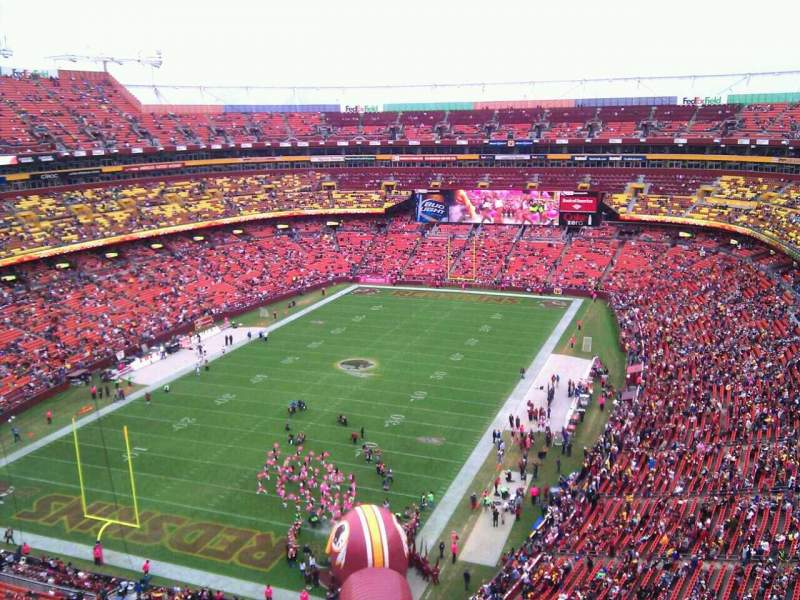 Seating view for FedEx Field Section 410 Row 9 Seat 8