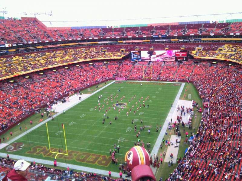 Seating view for FedEx Field Section 411 Row 9 Seat 6
