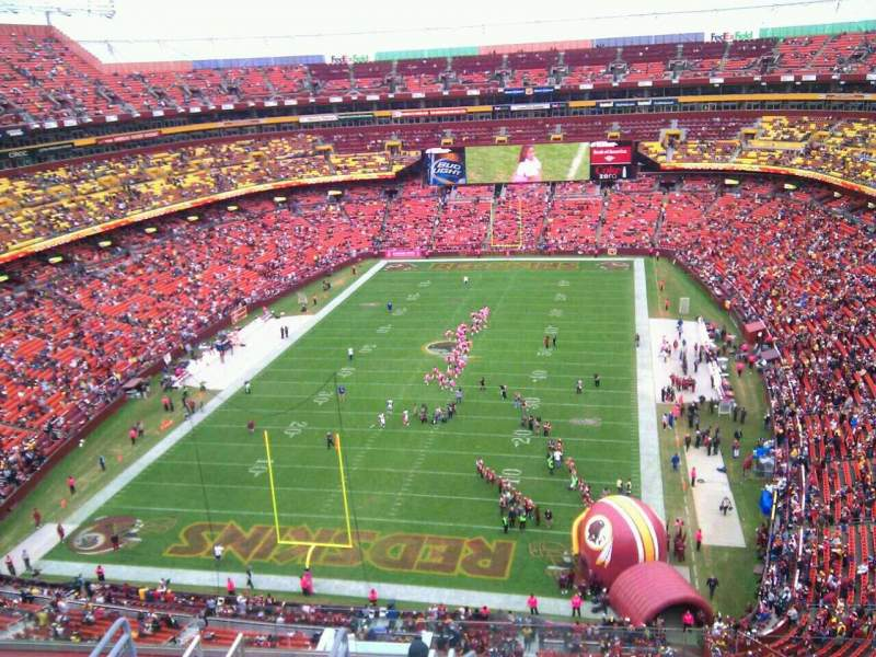 Seating view for FedEx Field Section 412 Row 9 Seat 6