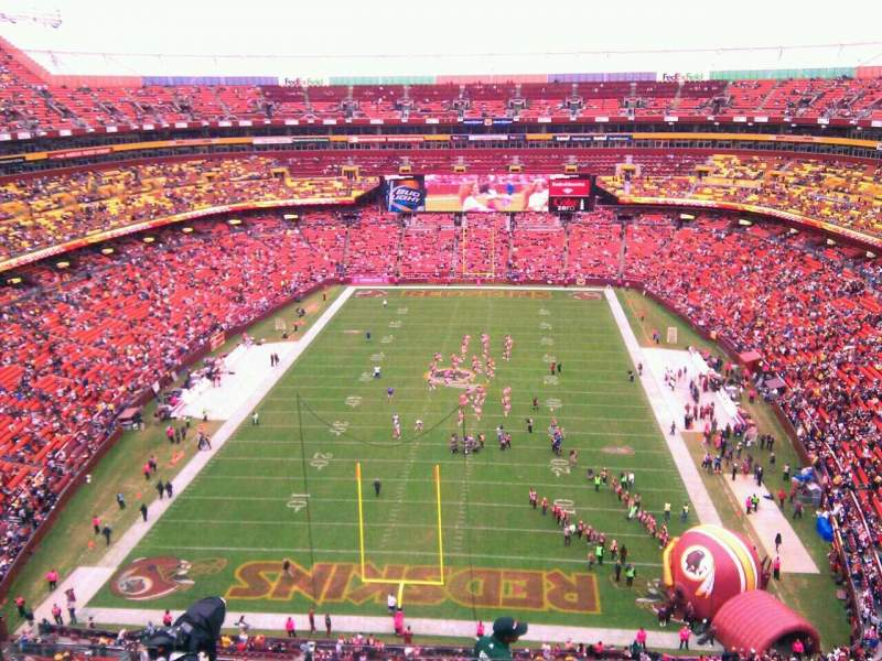 Seating view for FedEx Field Section 413 Row 9 Seat 8
