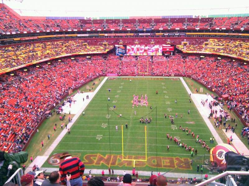 Seating view for FedEx Field Section 414 Row 9 Seat 8