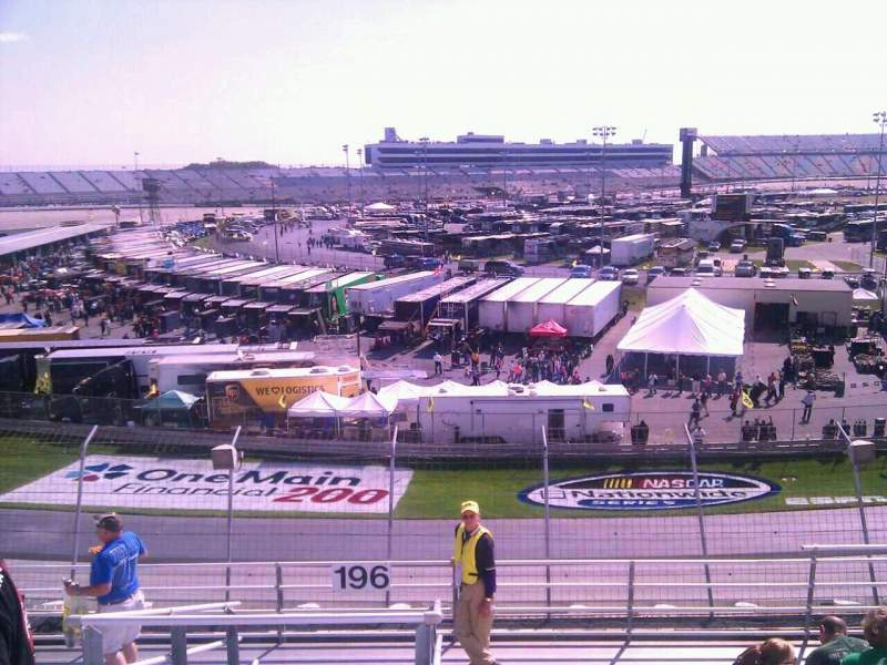 Seating view for Dover International Speedway Section 196 Row 9 Seat 9