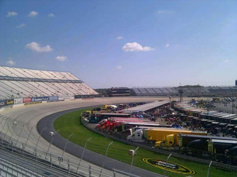 Seating view for Dover International Speedway Section 198 Row 9 Seat 9