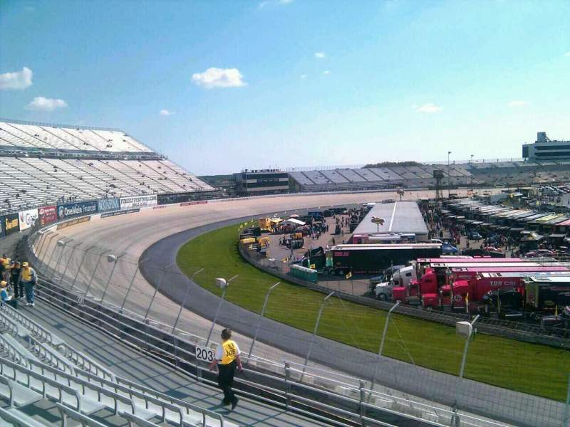 Seating view for Dover International Speedway Section 202 Row 9 Seat 9