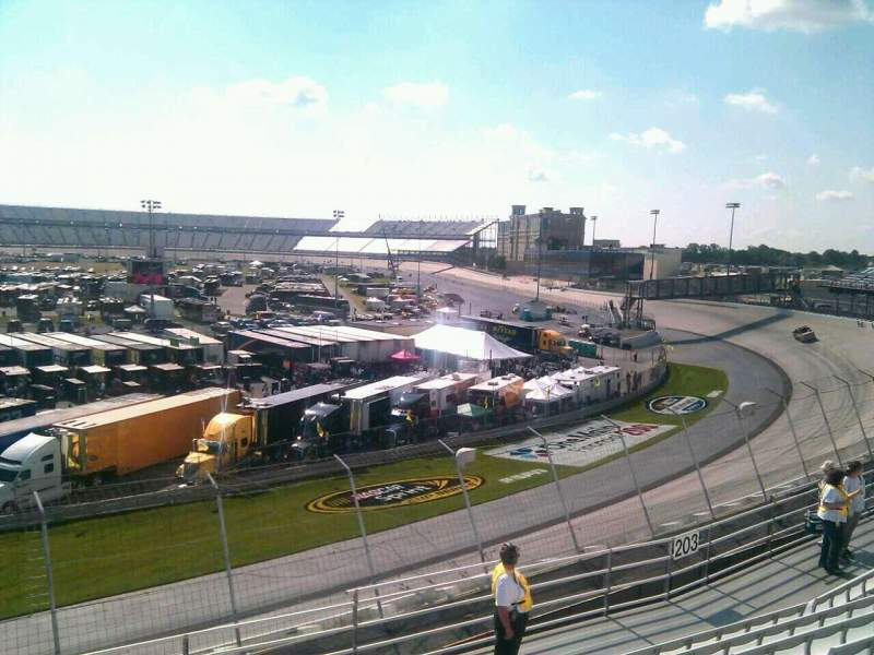 Seating view for Dover International Speedway Section 204 Row 9 Seat 9