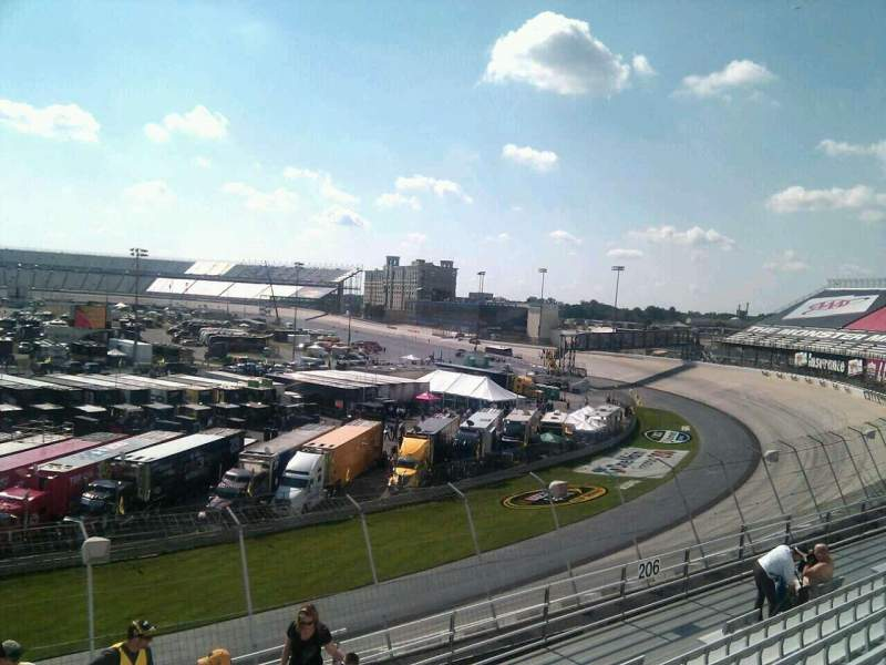 Seating view for Dover International Speedway Section 207 Row 9 Seat 9