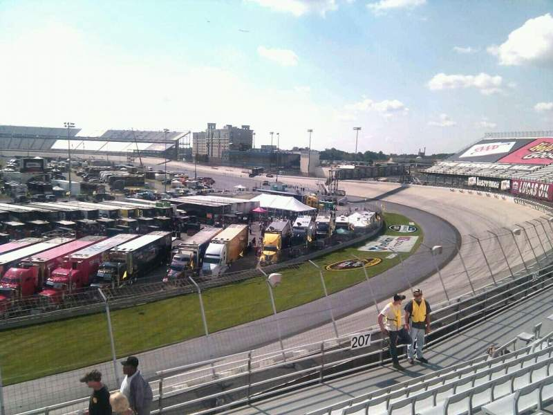 Seating view for Dover International Speedway Section 208 Row 9 Seat 9