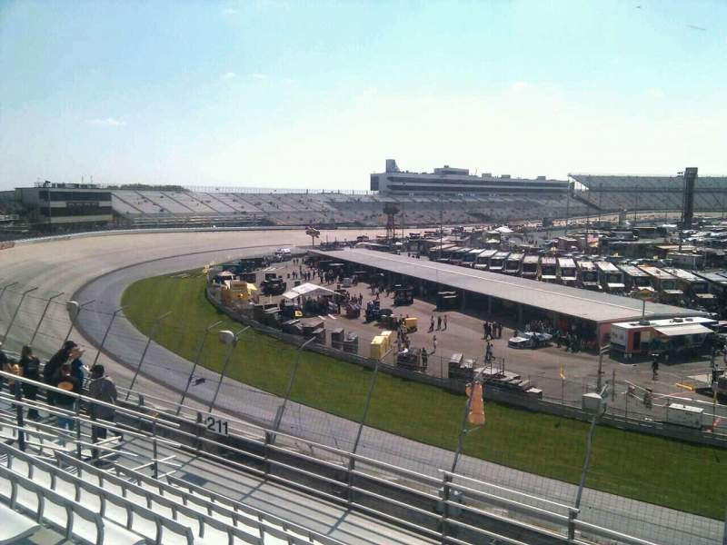 Seating view for Dover International Speedway Section 210 Row 9 Seat 9