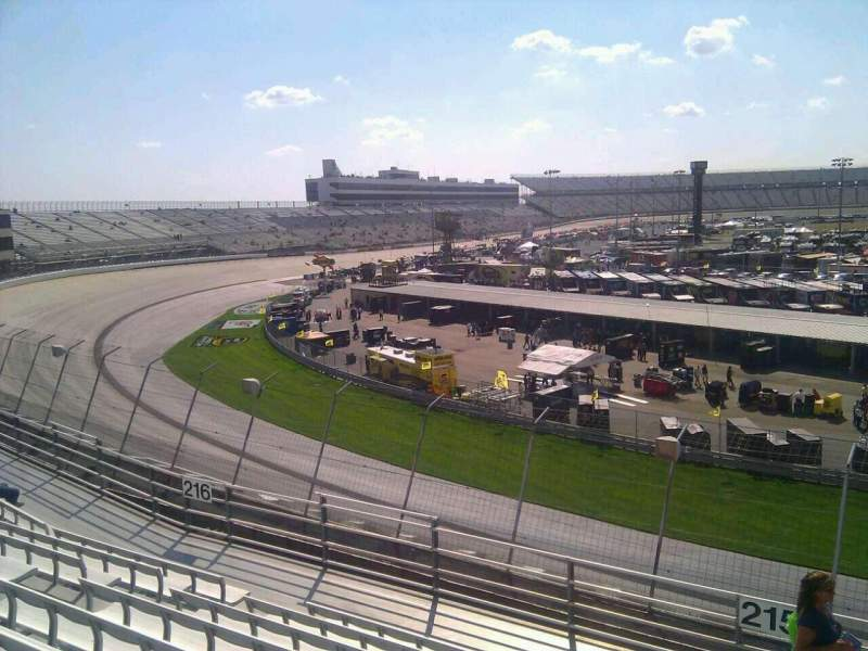Seating view for Dover International Speedway Section 215 Row 9 Seat 9