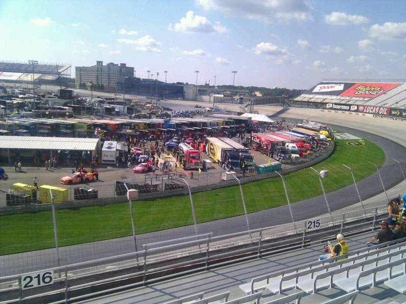 Seating view for Dover International Speedway Section 216 Row 9 Seat 9