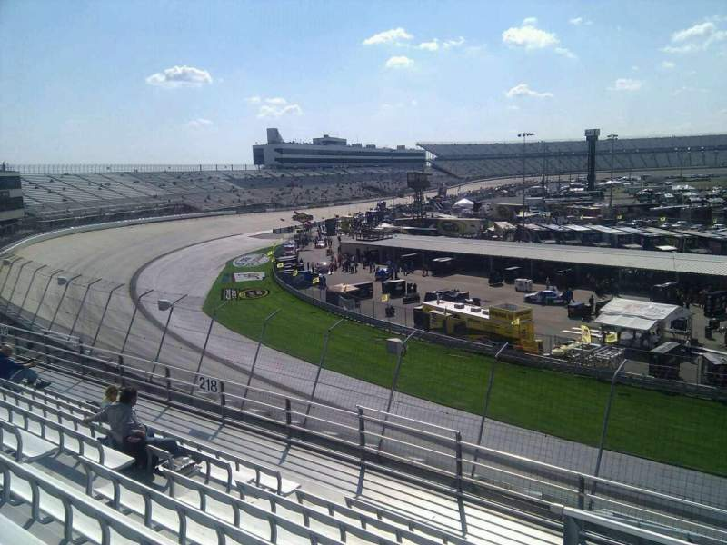 Seating view for Dover International Speedway Section 217 Row 9 Seat 9