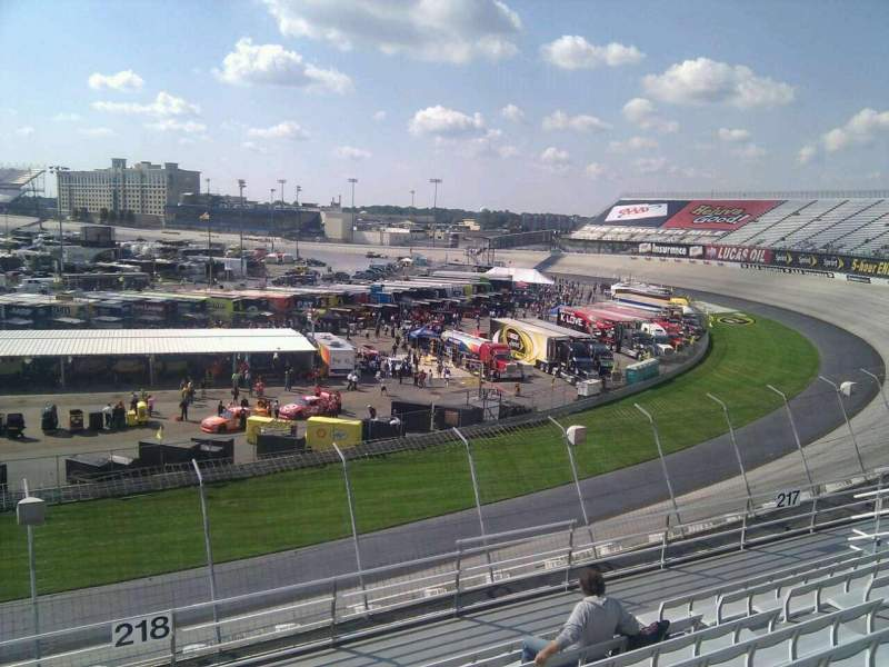 Seating view for Dover International Speedway Section 218 Row 9 Seat 9
