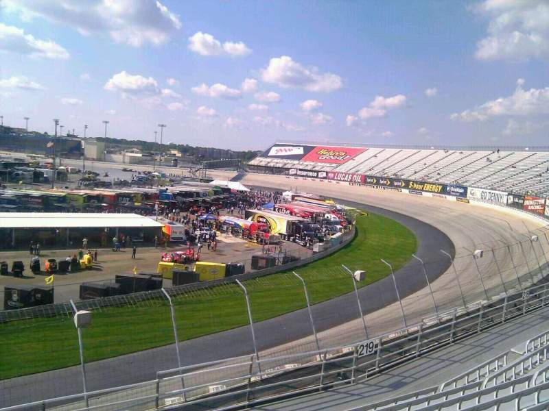 Seating view for Dover International Speedway Section 220 Row 9 Seat 9