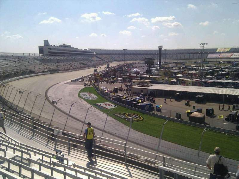 Seating view for Dover International Speedway Section 222 Row 9 Seat 9