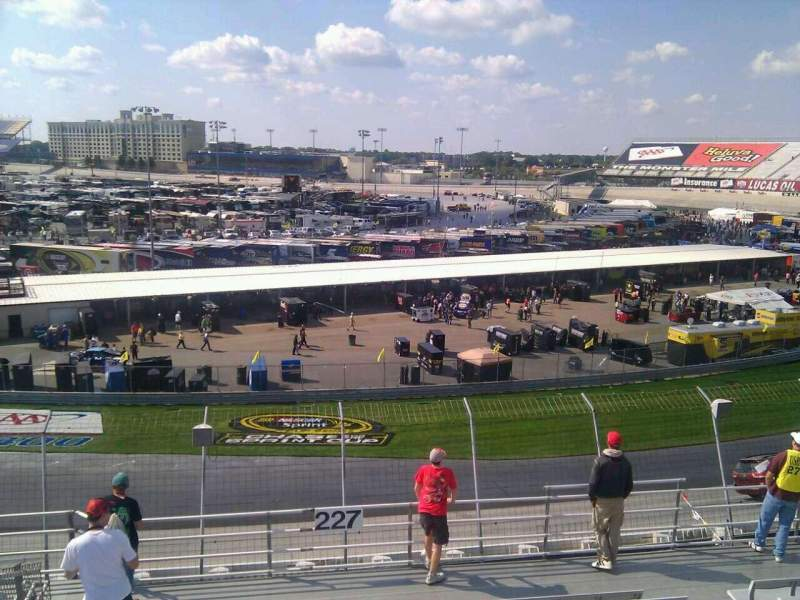 Seating view for Dover International Speedway Section 227 Row 9 Seat 9