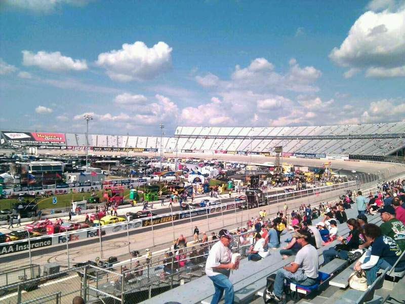 Seating view for Dover International Speedway Section 100 Row 30 Seat 9