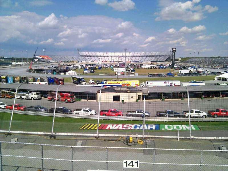 Seating view for Dover International Speedway Section 141 Row 14 Seat 9