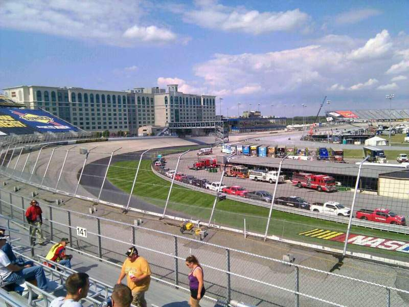 Seating view for Dover International Speedway Section 140 Row 14 Seat 9