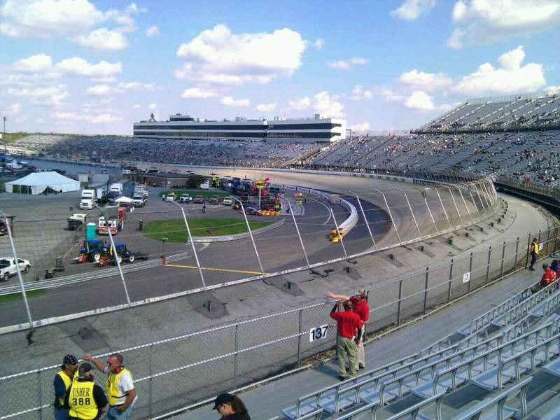 Seating view for Dover International Speedway Section 138 Row 14 Seat 9